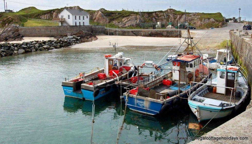 Fishing boats at Portmor near Malin Head